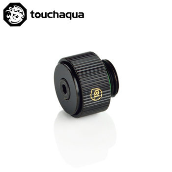 Touchaqua release Air Plug G1/4'' Brass Manual Exhaust Valve Air Evacuation use for Water Cooling System black silver TA-EXAIR image
