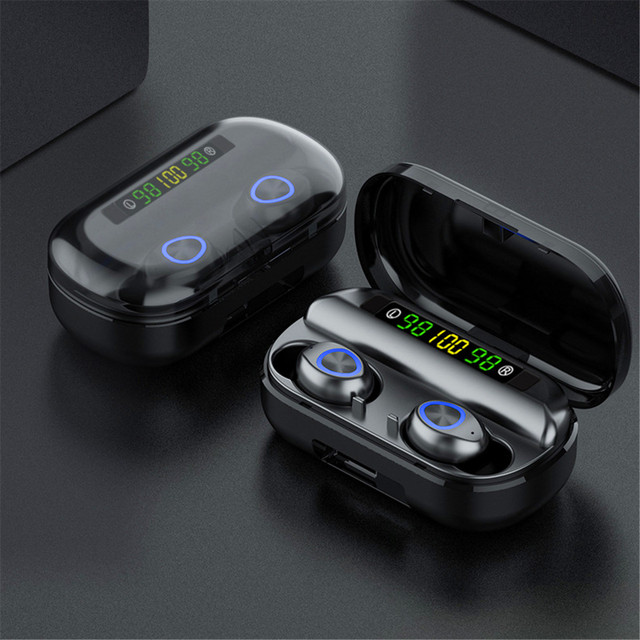 TWS 4000mAh v5.0 bluetooth Stereo Wireless Earphones Waterproof Earbuds With 3 LED Display Sport Wireless Headsets 2