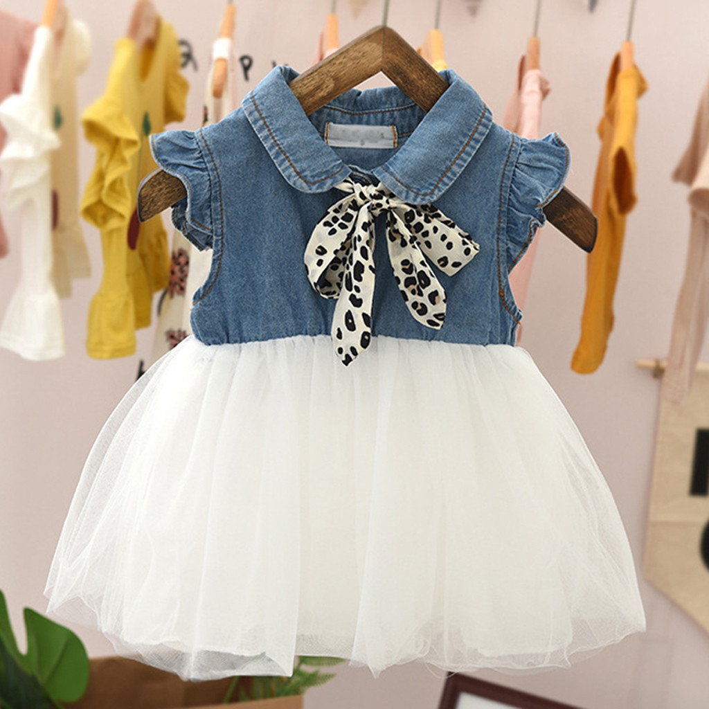 Newborn Infant Baby Girls Summer Dress Mermaid Floral Top Blue Tulle Tutu Skirt Beach Sundress 2Pcs Outfits