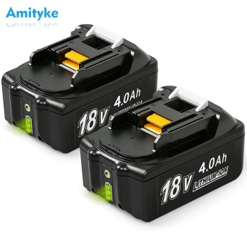2 PCS 18V 4.0Ah BL1840B Replacement Battery for Makita Li-ion Battery for BL1840 BL1850B BL1860 BL1830 BL1820 Tool Batteries 3pcs 18v bl1860 li ion 6000mah replacement for makita 18v bl1840 bl1830 bl1850 rechargeable power tool battery with usb adapter