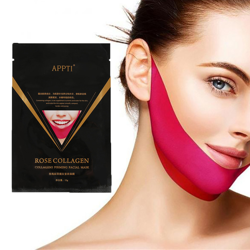 Face Slimming Tools V Shape Mask Face Lifting Mask Gel Patch Slim Lifting Anti Aging 3D Contour Lift Up Jaw & Chin Slimming