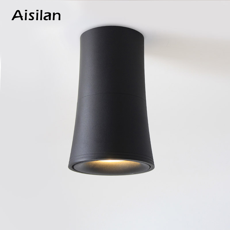 Aisilan Nordic LED Downlight Surface Mounted Ceiling Lamps AC85 260V Spot light for Living Room Bedroom Hallway Office|surface mounted|lamp lamp|lamp white - title=