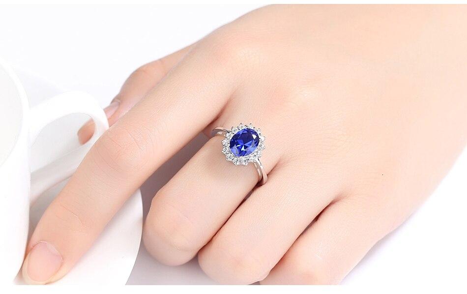 Ha4ba47e63d2d4e73ae277da33cf72b45s CZCITY Princess Diana William Kate Gemstone Rings Sapphire Blue Wedding Engagement 925 Sterling Silver Finger Ring for Women