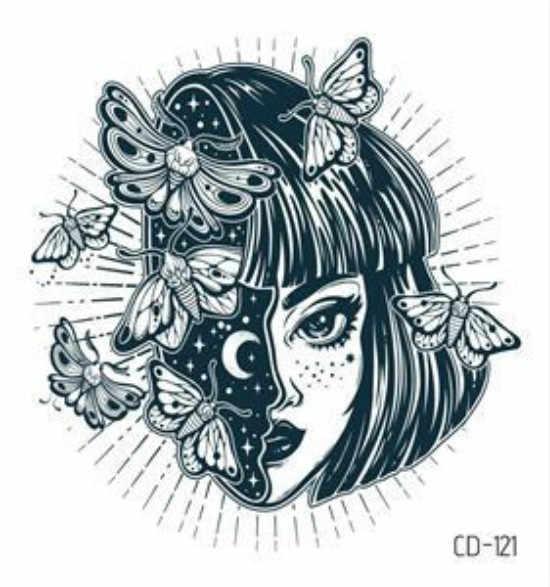 1PC סקסי מנדלה פרח שחור לבן פרחי קעקועים מדבקה זמני ציור פרח ילדה גוף אמנות מזויף קעקועים העברת מים