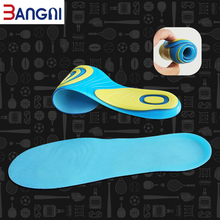 3ANGNI Elastic Men/Woman Orthotic Arch Support Shoe Insert Flat Feet insoles for shoes Comfortable Silicone Orthopedic