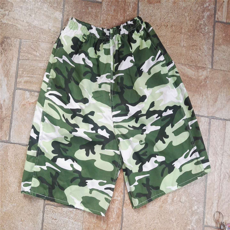 Short Beach Shorts Casual Quick-Dry Camouflage Printed Sports Beach Surfing Drifting Stall Household Nursing