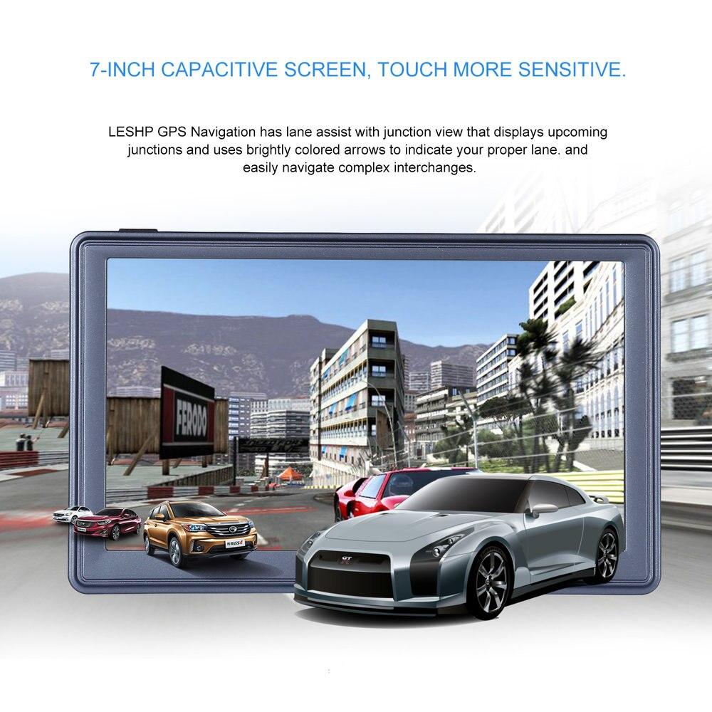 7 inch HD Car GPS Navigation Capacitive screen FM 8GB/256MB DDR/800MHZ Automobile Navigator Vehicle Truck GPS Sat nav Map