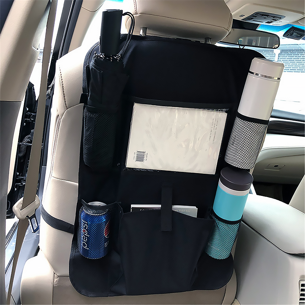 Car Seat Storage Bag Backseat Organiser Screen Tablet Holder Auto Organizer Kick Mats