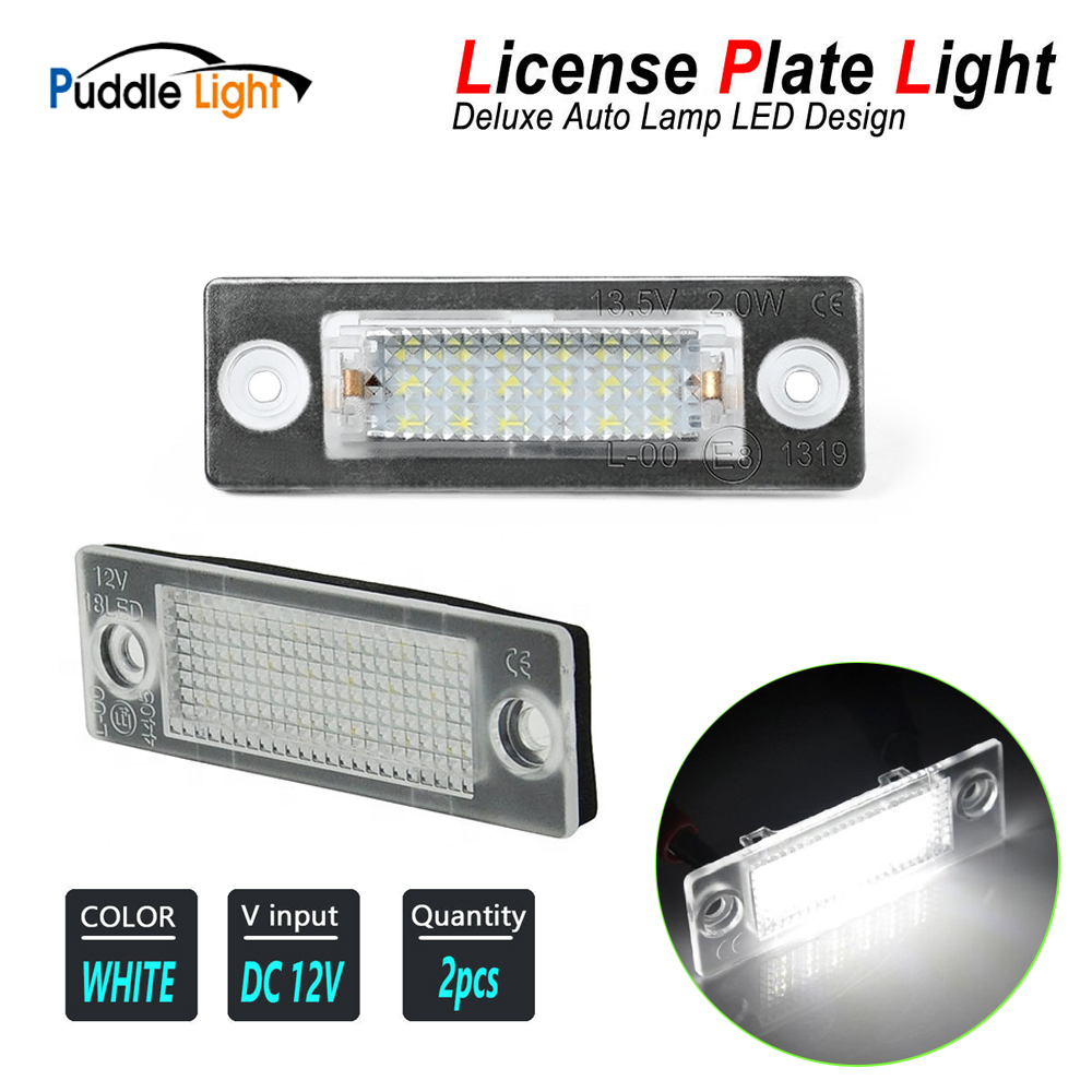 <font><b>LED</b></font> License Number Plate <font><b>Light</b></font> Lamps For <font><b>VW</b></font> Caddy Golf Plus Jetta <font><b>Passat</b></font> <font><b>B5</b></font> B6 Touran Transporter T5 T6 Skoda Superb Octavia image