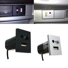 Автомобильный адаптер AUX/USB для входа мини-кабеля USB слот интерфейсный кнопочный переключатель для Ford Focus 2 mk2 2009 2010 2011 аксессуары