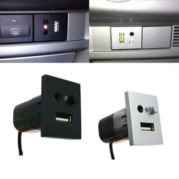 Car AUX/USB Input Adapter Mini Cable USB Slot Interface Button Switch for Ford Focus 2 mk2 2009 2010 2011 Accessories biurlink car aux usb panel switch button diy aux usb adapter 12pin audio rear connector for vw golf passat