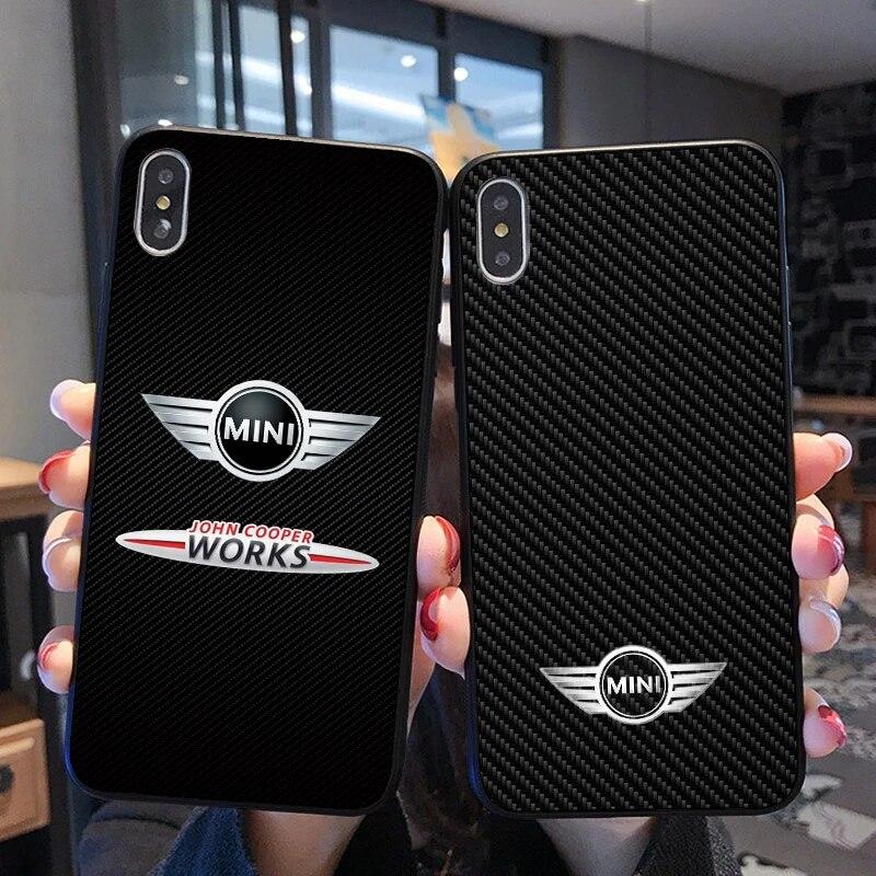 Coque MINI Cooper pour iPhone, compatible modèles 6, 6S Plus, 7, 8, 11 Pro, X, XS Max, XR, 5, 5s, SE, Samsung Galaxy Note 8, 9, 10, S8, S9, S10, S20 ...