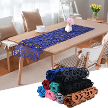 Rectangle Felt Table Runners Modern Hollow Out Table Home Decoration TV Cabinet Table Runners for Wedding Decorations