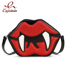 Women Purses Clutch-Bag Handbags Shoulder-Bag Crossbody-Bag Female Teeth-Design Fashion