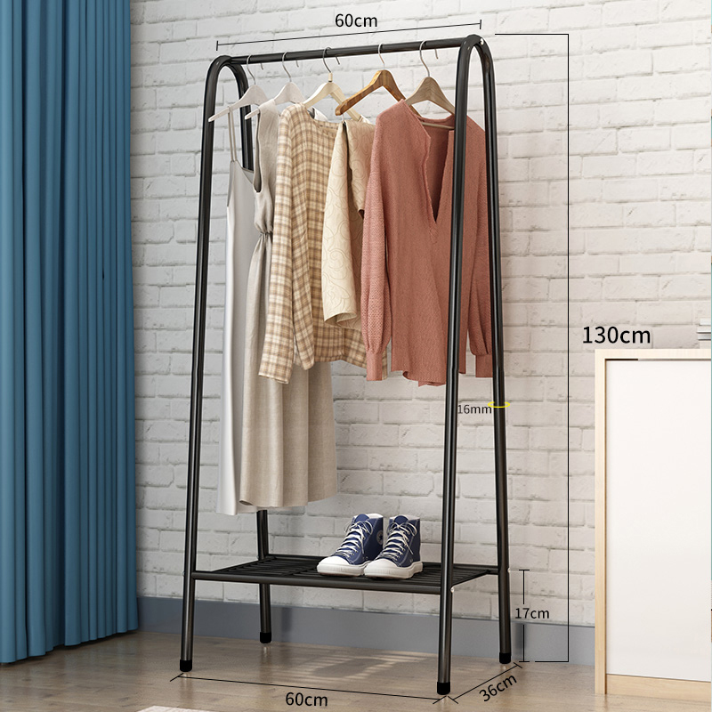 Floor Standing Coat Rack Standing Coat Rack Steel Tube Removable Floor Hanger Shoes Bags Boxes Organizer Clothes Hanger Stand