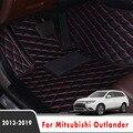 Ковры автомобильные коврики для Mitsubishi Outlander 2018 2017 2016 2015 2014 2013 5 мест Авто Интерьер пользовательские кожаные чехлы