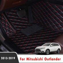 Tapetes do carro tapetes para mitsubishi outlander 2018 2017 2016 2015 2014 2013 5 assentos auto interior personalizado capas de couro