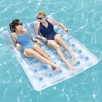 Water sports PVC air mattress pool beach Inflatable Mattress Pillow water floating bed comfortable pool inflatable mattresses