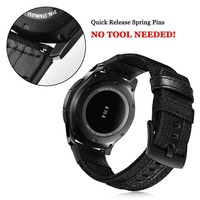 strap For Samsung Galaxy watch 3 46mm band gear s3 Frontier Classic nylon 22mm 20mm WatchWoven Nylon Band for 20mm 22mm Wrist 2