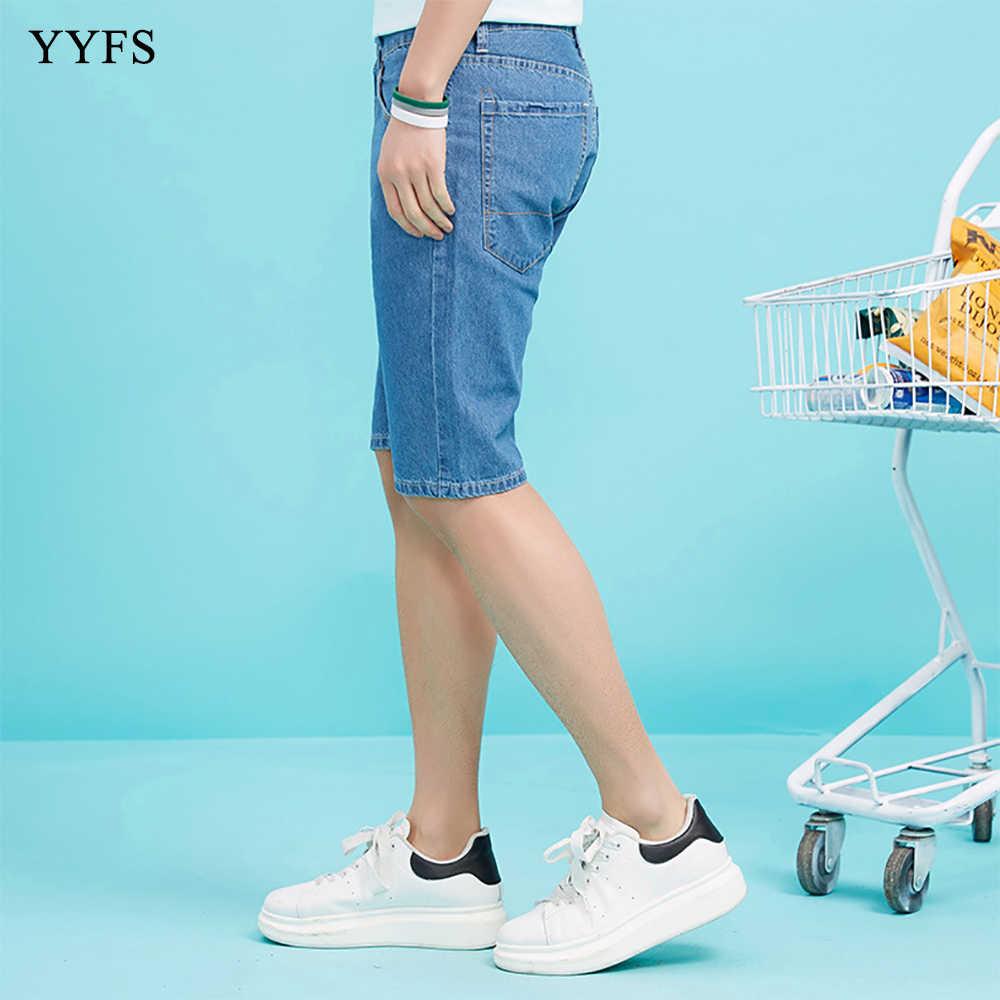 Pantalones cortos de mezclilla elásticos de alta calidad de corte Delgado Casual de moda para hombres de verano 2019