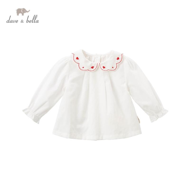 DBM16477, демисезонная Модная рубашка с вышивкой в виде Дэйва Беллы для маленьких девочек, топы для малышей, детская одежда высокого качества|Блузки и рубашки| | АлиЭкспресс