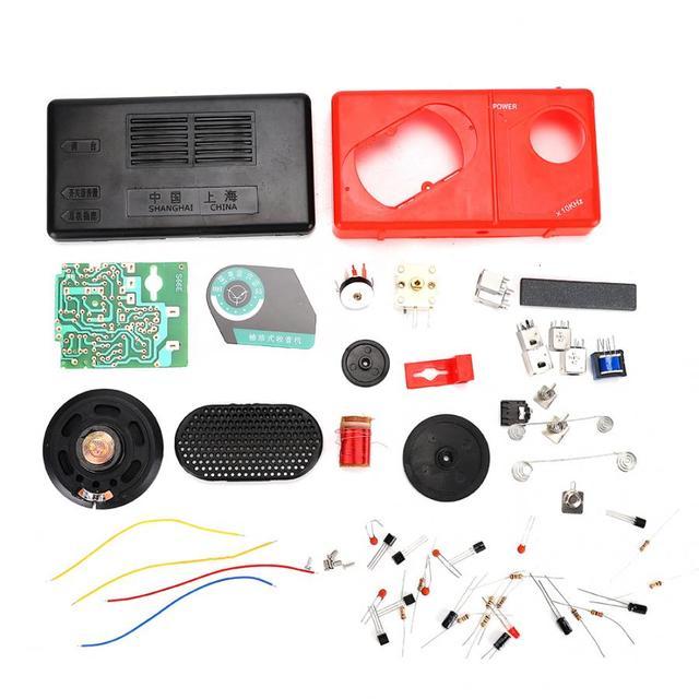 3V 14dB שש צינור AM S66E רדיו קלאסי מעגל רכיבים אלקטרוניים DIY ייצור ערכת עם 5mm радиоприемник