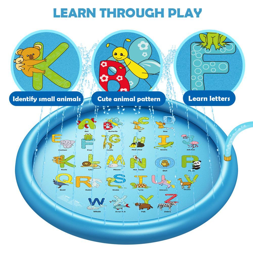 tapete gramado inflável sprinkler almofada brinquedos banheira natação piscina