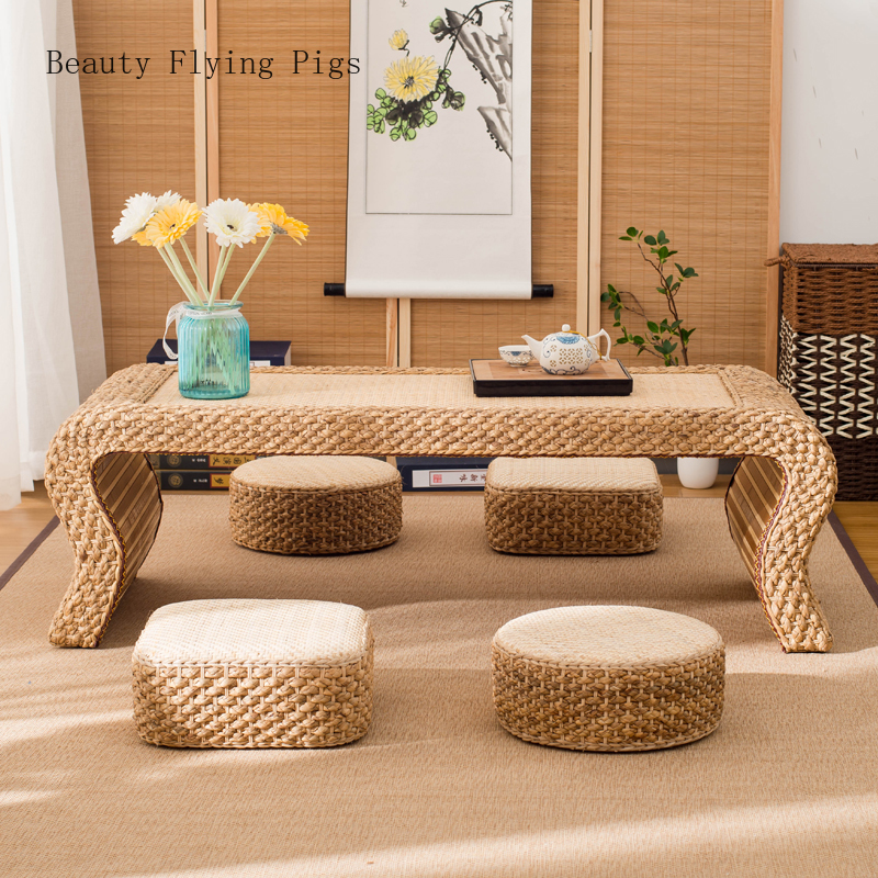 Direct rattan cushion rug thick tatami mat Japanese style rattan home sitting cushion meditation mat decorative cushion