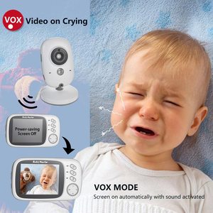 Image 4 - VB603 Wireless Video Color Baby Monitor with 3.2Inches LCD 2 Way Audio Talk Night Vision Surveillance Security Camera Babysitter