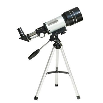 PDDHKK 70mm Refraction Astronomical Space Telescope Portable Camping Monocular 150x Magnification With Two Eyepiece Tripod