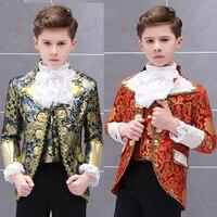 الهيب هوب ازياء الأولاد الأوروبي للأطفال المحكمة دعوى الأمير الساحرة الدراما الحديثة مرحلة الأداء فستان أطفال ارتداء DN4043