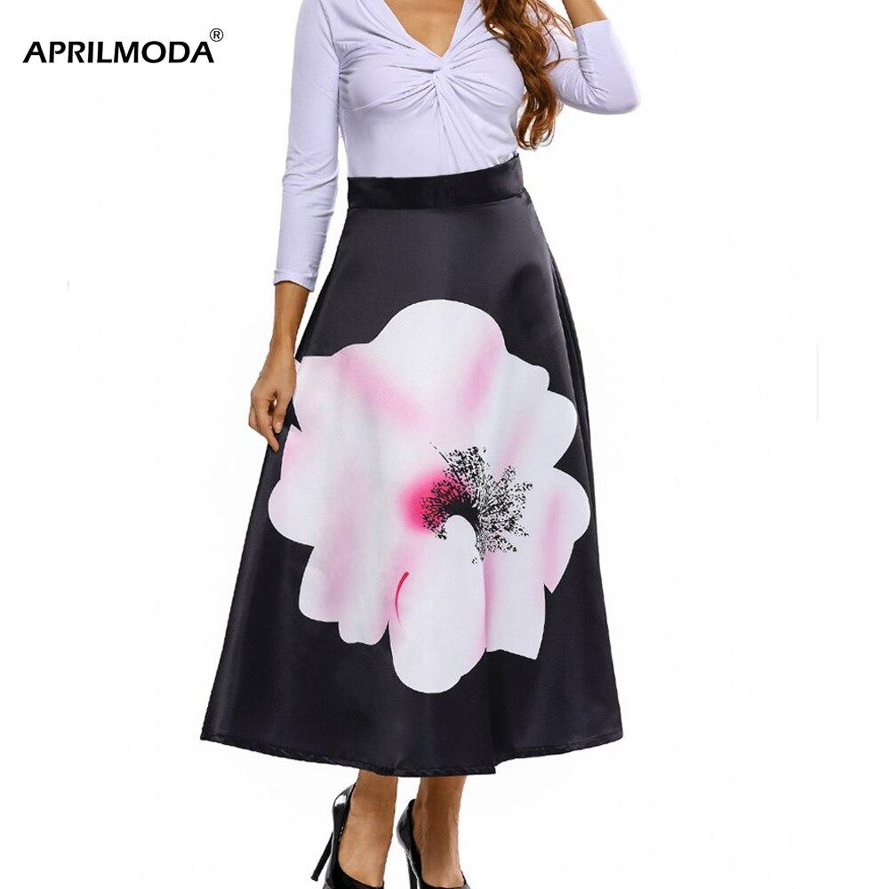 Женская юбка миди с цветочным принтом, высокая талия, Ретро стиль, Ретро стиль, 50 s, рокабилли, вечерние, на булавке, повседневные женские юбки