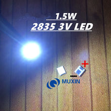 200pcs DIODO EMISSOR de luz 1.5W 1210 V 3528 2835 131LM 3 CUW JHSP Cool White Backlight LCD TV Aplicação