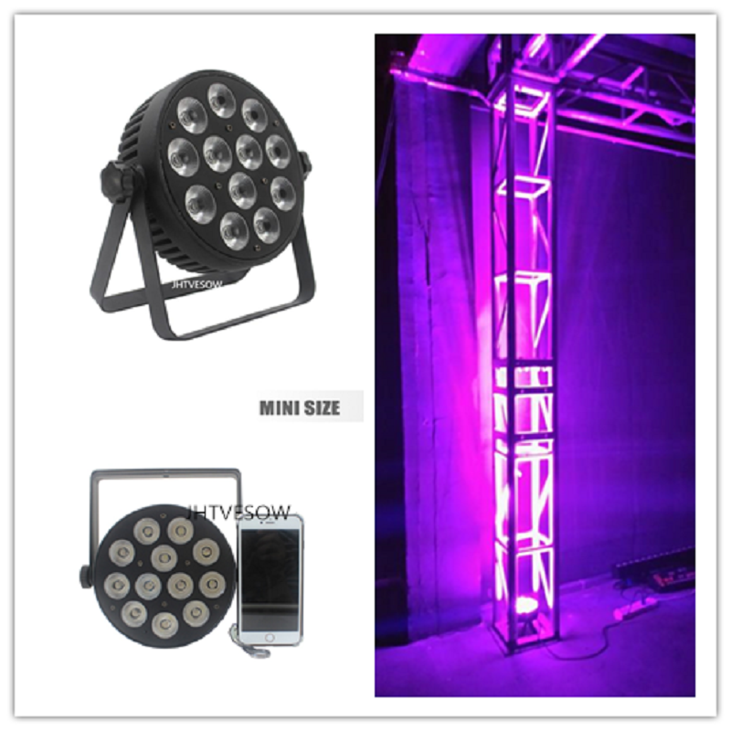6pcs /lot disco <font><b>par</b></font> <font><b>led</b></font> <font><b>12x12w</b></font> rgbwa uv or 8w rgbw 4in1 <font><b>led</b></font> <font><b>par</b></font> light 50w <font><b>led</b></font> <font><b>par</b></font> 64 dj slim <font><b>par</b></font> image