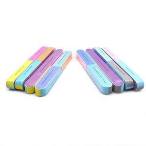 5 шт./лот шлифовальные пилки для ногтей Губка пилки для ногтей буферы портативный педикюр маникюр все УФ гель буферный блок для ногтей Полировка DIY инструмент