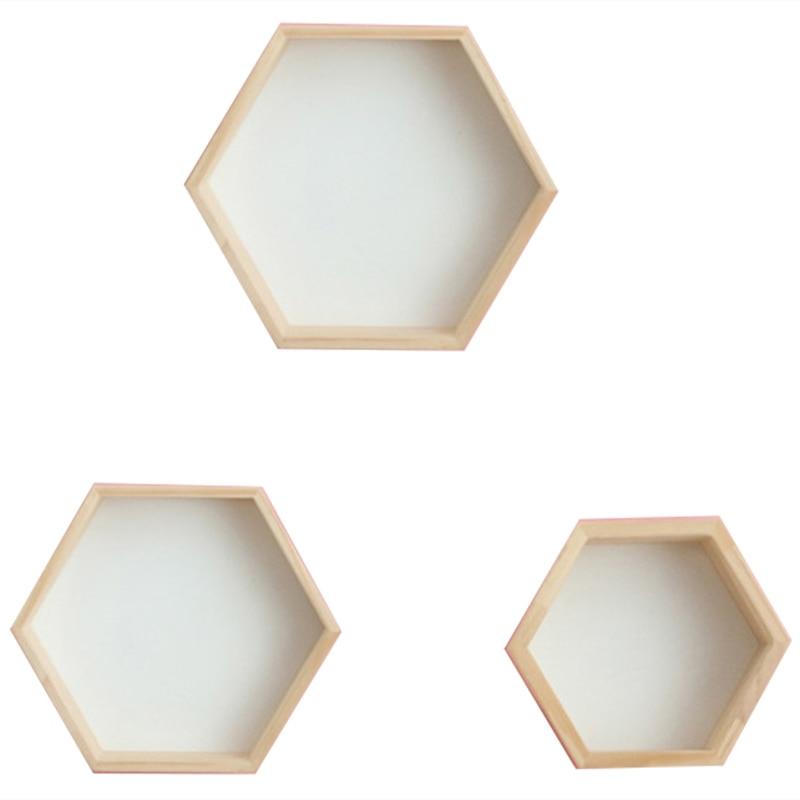 3Pcs/Set Nordic Style Kids Room Decoration Shelf Honeycomb Hexagon Shelves For Baby Child Bedroom Decoration
