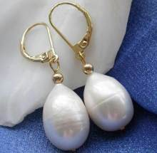Charming 10-14mm AAA Freshwater white natural pearl earring(China)