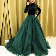 Вечернее платье в мусульманском стиле вельветовое трапеция с