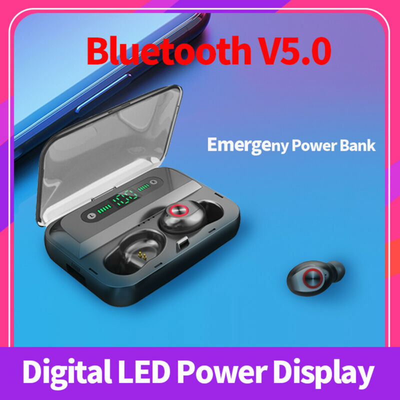 Smart Touch 8D Stereo Waterproof Wireless Earphone With LED Power Display BlueTooth 5.0