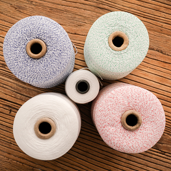 Polyester cotton thread diy cotton rope rope special tied household material tied sausage file bundle white thread rope macrame фото