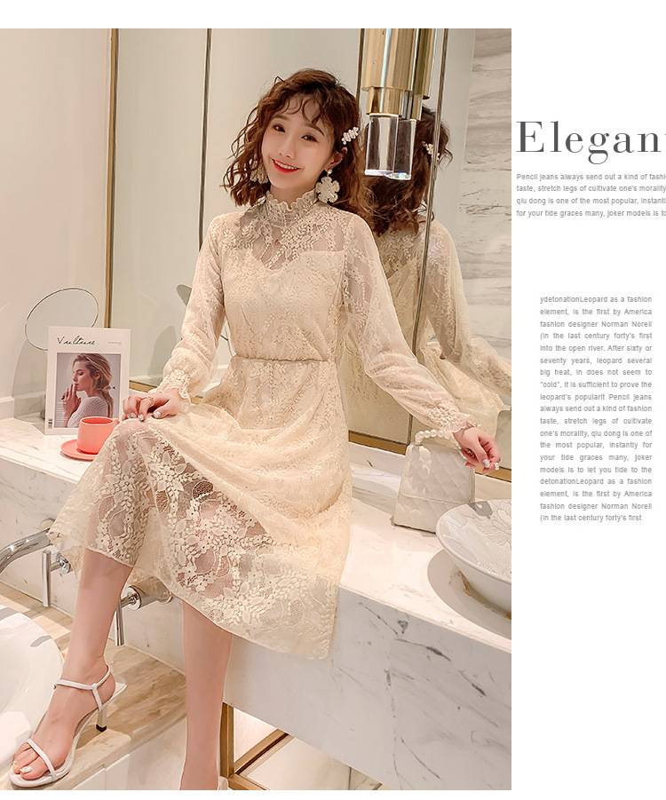 2020 Maternity clothing summer twinset lace maternity one-piece dress white embroidery maternity dress For Pregnant (14)