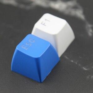 Image 3 - Doubleshot חומר עם תאורה אחורית Sa Keycaps סט PBT אדום כחול לבן שקוף גופן עבור משחקים מכאניים מקלדת ASNI Gh 104 60 87