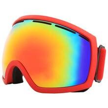 Профессиональные лыжные очки двухслойная противотуманная большая