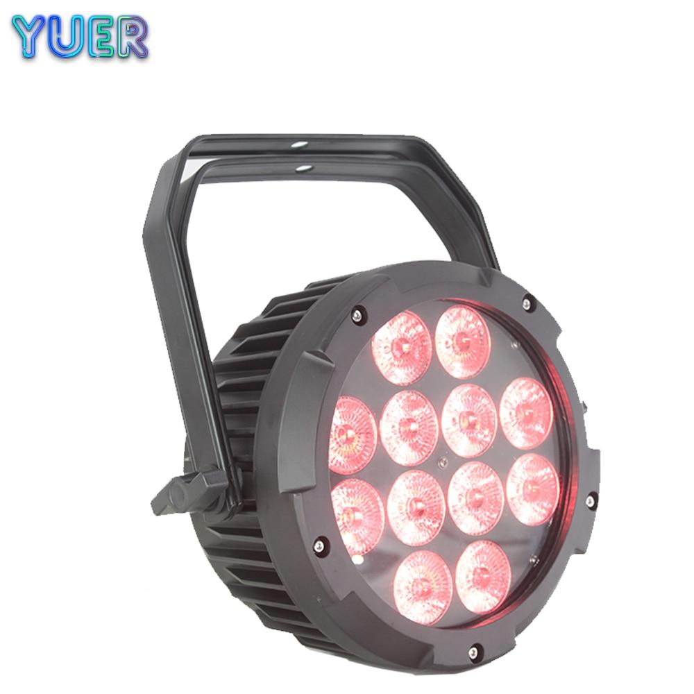 Waterproof LED Par 12x18W RGBWA-UV DMX512 Outdoor IP65 LED DMX Stage Lighting Effect DJ Disco Party Show Beam Wash 2IN1 Light
