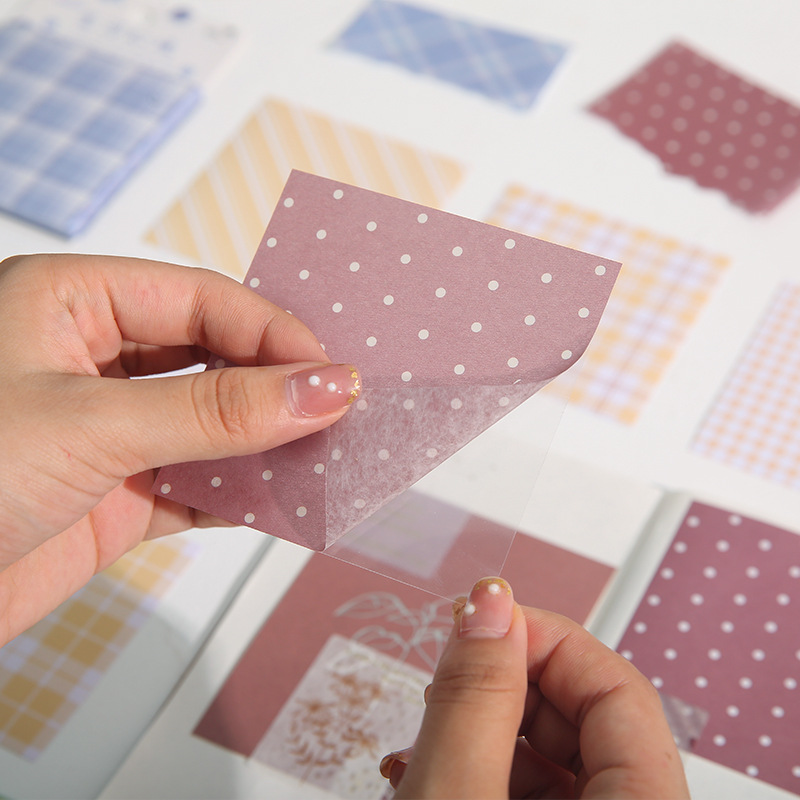 Mint Sea Salt Grid Memo Pad Journal DIY Decoration Base Material Paper Collage Scrapbook Stationery