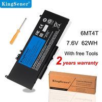 KingSener 6MT4T yedek pil Dell Latitude E5470 E5570 serisi hassas M3510 79VRK 07V69Y TXF9M 7.6V 62WH 4 hücreleri