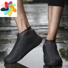 Утепленная обувь с силиконовым гелем; Водонепроницаемая Обувь для дождливой погоды; Многоразовые резиновые эластичные противоскользящие ботинки