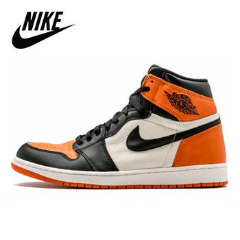 Nowy 2020 Nike Air Jordan 1 Retro rozbity tablica wysokiej OG piłka do koszykówki dla mężczyzn trampki oryginalne kobiety Nike Air Jordan 1 YSAJ188 tanie i dobre opinie CN (pochodzenie) Buty do koszykówki Średnie (b m) RUBBER Syntetyczny BQ6472 Lace-up Spring2017 Pasuje prawda na wymiar weź swój normalny rozmiar