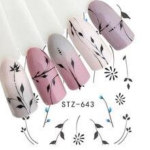 1 sztuk biały czarny paznokci naklejki woda kalkomanie transferowe dekoracje Dream Cather suwak do paznokci DIY porady LASTZ634 658