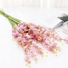 Borboleta artificial orquídea flores falso mariposa flor orquídea para festa de casamento em casa decoração diy toque real decoração da sua casa